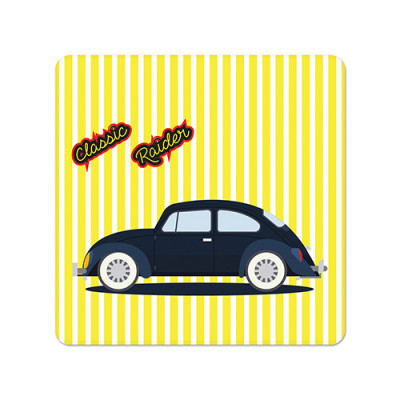 Fridge Magnet Square - Car